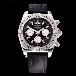 Replica Breitling Chronomat 44 airbone 30th Anniversary AB01154G/BD13 GF Stainless Steel Black Dial Swiss 7750