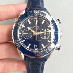 Replica Omega Seamaster Planet Ocean 600M Chronograph 215.33.46.51.03.001 JH Stainless Steel Blue Dial Swiss 9900