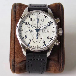 Replica IWC Pilot Chronograph Edition 150 Years 377725 ZF Stainless Steel White Dial Swiss 7750