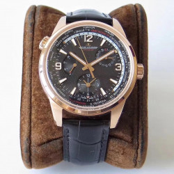 Replica Jaeger-LeCoultre Polaris Geographic WT TWA Rose Gold Black Dial Swiss Caliber 936A/1