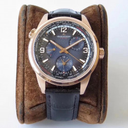 Replica Jaeger-LeCoultre Polaris Geographic WT TWA Rose Gold Blue Dial Swiss Caliber 936A/1