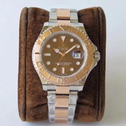 Replica Rolex Yacht-Master 40 116621 VR Stainless Steel & Rose Gold Chocolate Dial Swiss 2836-2