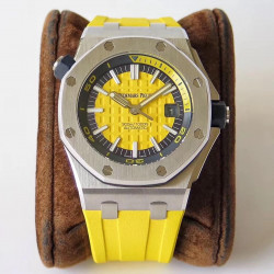 Replica Audemars Piguet Royal Oak Offshore Diver 15710ST.OO.A051CA.01 JF V8 Stainless Steel Yellow Dial Swiss 3120