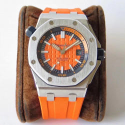 Replica Audemars Piguet Royal Oak Offshore Diver 15710ST.OO.A070CA.01 JF V8 Stainless Steel Orange Dial Swiss 3120
