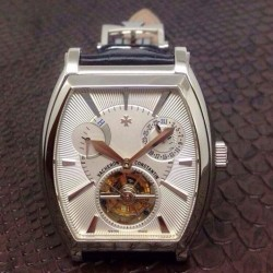 Replica Vacheron Constantin Malte Tourbillon Stainless Steel White Dial Swiss Tourbillon