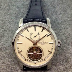 Replica Vacheron Constantin Patrimony Tourbillon Stainless Steel White Dial Swiss Tourbillon