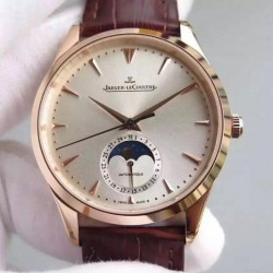 Replica Jaeger-LeCoultre Master Ultra Thin Moon Rose Gold Silver Dial Swiss JLC 925