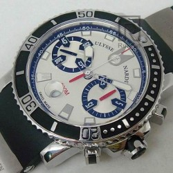 Replica Ulysse Nardin Maxi Marine Diver Chronograph Stainless Steel White Dial Swiss 7750