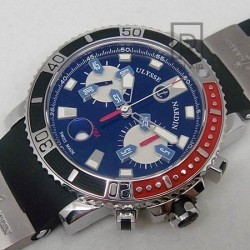Replica Ulysse Nardin Maxi Marine Diver Chronograph Stainless Steel Black Dial Swiss 7750