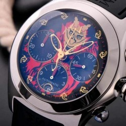 Replica Corum Bubble Chronograph Lucifer Stainless Steel Lucifer Dial Swiss 7750