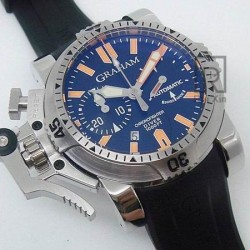 Replica Graham Chronofighter Oversize Diver Stainless Steel Black Dial Swiss 7750
