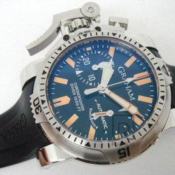 Replica Graham Chronofighter Oversize Diver Stainless Steel Carbon Fiber Dial Swiss 7750