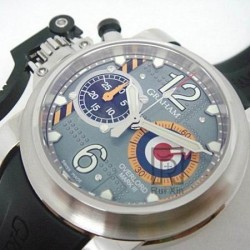 Replica Graham Chronofighter Oversize Stainless Steel Blue Dial Swiss 7750
