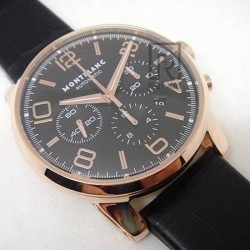Replica Montblanc Timewalker Chronograph Rose Gold Rose Gold Markers Black Dial Swiss 7750