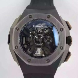 Replica Audemars Piguet Royal Oak Concept Laptimer Michael Schumacher PVD Skeleton Dial Swiss Quartz 2713
