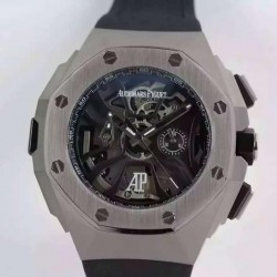 Replica Audemars Piguet Royal Oak Concept Laptimer Michael Schumacher Stainless Steel Skeleton Dial Swiss Quartz 2713