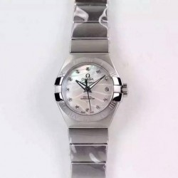 Replica Omega Constellation Double Eagle Lady 27MM Stainless Steel White Dial Swiss 8520