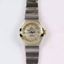 Replica Omega Constellation Double Eagle Lady 27MM Stainless Steel & Yellow Gold Gold Dial Swiss 8520