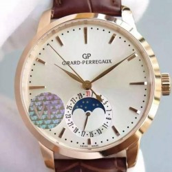 Replica Girard Perregaux 1966 Rose Gold White Dial Swiss GP 033MO