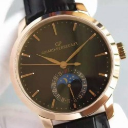 Replica Girard Perregaux 1966 Rose Gold Black Dial Swiss GP 033MO