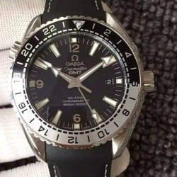 Replica Omega Seamaster Planet Ocean GMT Good Planet Foundation Stainless Steel Black Dial Swiss 8906