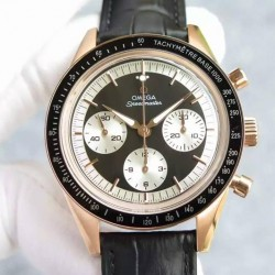 Replica Omega Speedmaster Moonwatch Limited Edition Rose Gold Black Dial Swiss 1861