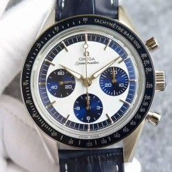 Replica Omega Speedmaster Moonwatch Limited Edition Stainless Steel White & Blue Dial Swiss 1861