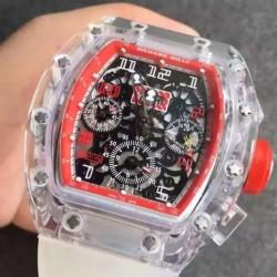 Replica Richard Mille RM011-FM Shappire Red & Skeleton Dial Swiss 7750
