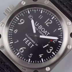 Replica U-Boat Thousands Of Feet 1918 Stainless Steel Black & White Dial Swiss 6497