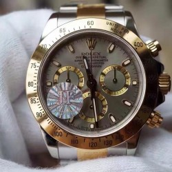 Replica Rolex Daytona Cosmograph 116503  JF Yellow Gold & Stainless Steel Anthracite Dial Swiss 7750 Run 6@SEC