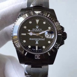 Replica Rolex Submariner Date 116610LN Mastermind JF PVD Black Dial Swiss 2836-2