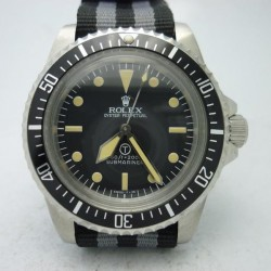 Replica Rolex Submariner T Military 5517 LF Stainless Steel Black Dial Swiss 2836-2