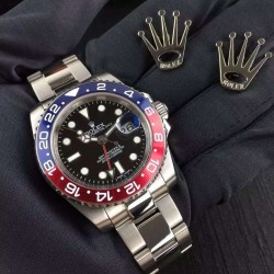 Replica Rolex GMT-Master II 116719BLRO UR Stainless Steel Black Dial Swiss 2836-2