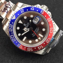 Replica Rolex GMT-Master II 116719BLRO BP Stainless Steel Black Dial Swiss 3186