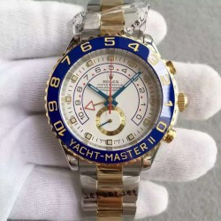 Replica Rolex Yacht-Master II 116681 V5 Stainless Steel & Yellow Gold White Dial Swiss 7750