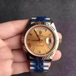 Replica Rolex Day-Date 116233 36MM V5 Stainless Steel & Yellow Gold Gold Dial Swiss 2836-2