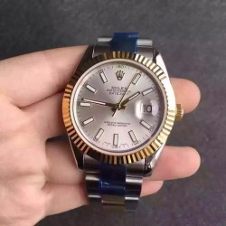 Replica Rolex Datejust II 116333 V5 41MM Stainless Steel & Yellow Gold Silver Dial Swiss 2836-2