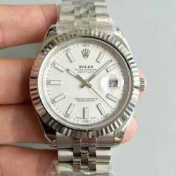 Replica Rolex Datejust II 116334 41MM NF Stainless Steel White Dial Swiss 2836-2