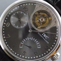 Replica IWC Portuguese Tourbillon Mystery IW504207 Stainless Steel Anthracite Dial Swiss 50900