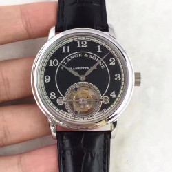 Replica A. Lange & Sohne 1815 Tourbillon 730.032 LH Stainless Steel Black Dial Swiss L102.1