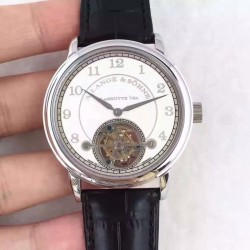 Replica A. Lange & Sohne 1815 Tourbillon 730.032 LH Stainless Steel White Dial Swiss L102.1