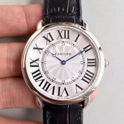 Replica Ronde Luis Cartier W6801004 42MM UT Stainless Steel Silver Dial Swiss 430MC