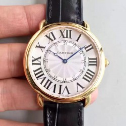 Replica Ronde Luis Cartier W6800251 42MM UT Yellow Gold Silver Dial Swiss 430MC