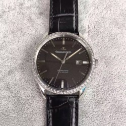 Replica Jaeger-LeCoultre Geophysic True Second 8018420 N Stainless Steel & Diamonds Black Dial Swiss Calibre 770