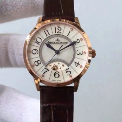 Replica Jaeger-LeCoultre Ladies Rendez-Vous Night & Day 3462491 34MM N Rose Gold Pearl Dial Swiss 898A/1