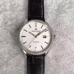 Replica Jaeger-LeCoultre Geophysic True Second 8018420 N Stainless Steel & Diamonds White Dial Swiss Calibre 770