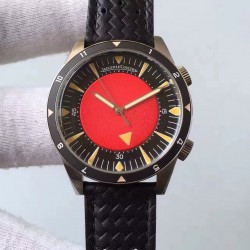 Replica Jaeger-LeCoultre Memovox Tribute to Deep Sea Q2028470 ZF Stainless Steel Red Dial M9015