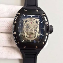 Replica Richard Mille RM052 SF PVD Skull & Black Dial Swiss M6T51