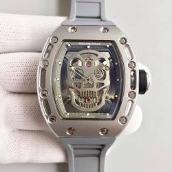 Replica Richard Mille RM052 SF Titanium Skull & Grey Dial Swiss M6T51