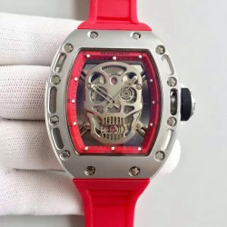 Replica Richard Mille RM052 SF Titanium Skull & Red Dial Swiss M6T51